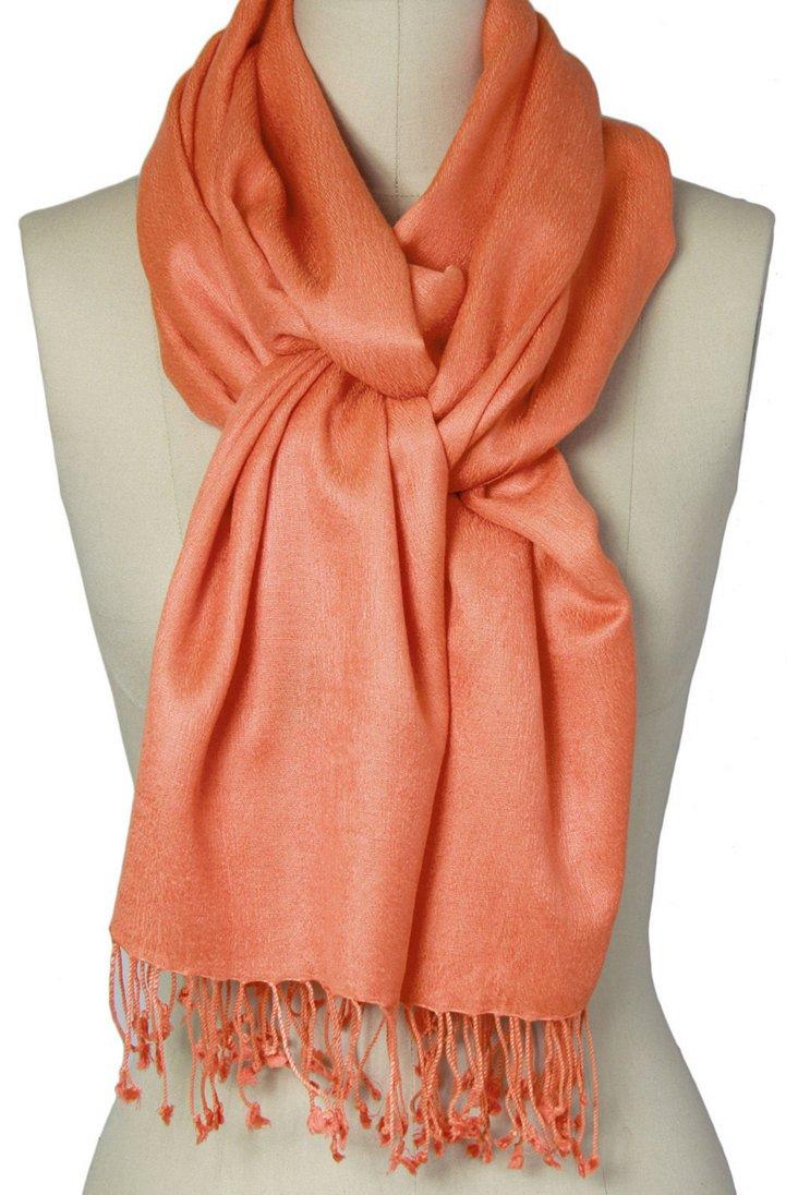 Cashmere/Silk Scarf, Tangerine
