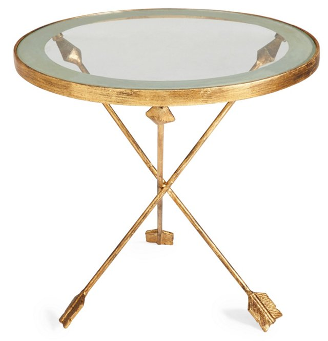 Dickson Arrow Side Table, Gold