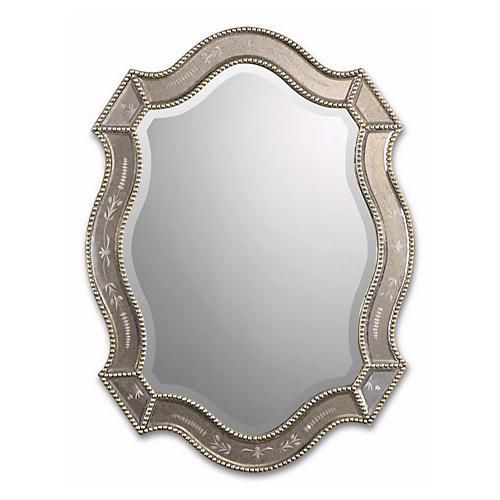Beaded Mirror, Gold