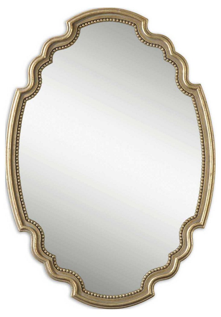 Angelina Wall Mirror, Gold