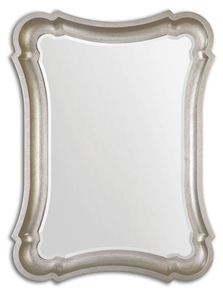 Galloway Oversize Mirror, Silver