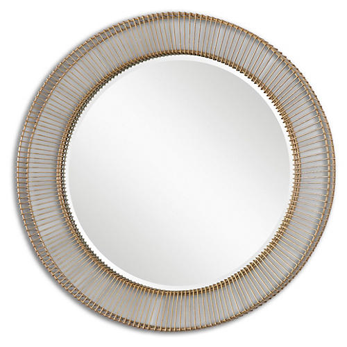 Bricius Wall Mirror, Distressed Rust