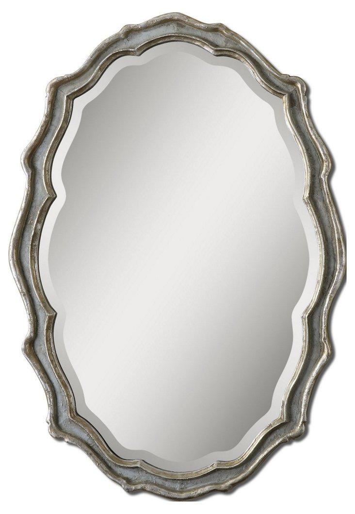 Murray Wall Mirror, Silver