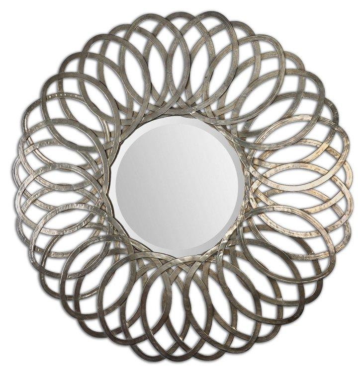 Emiliya Wall Mirror, Silver