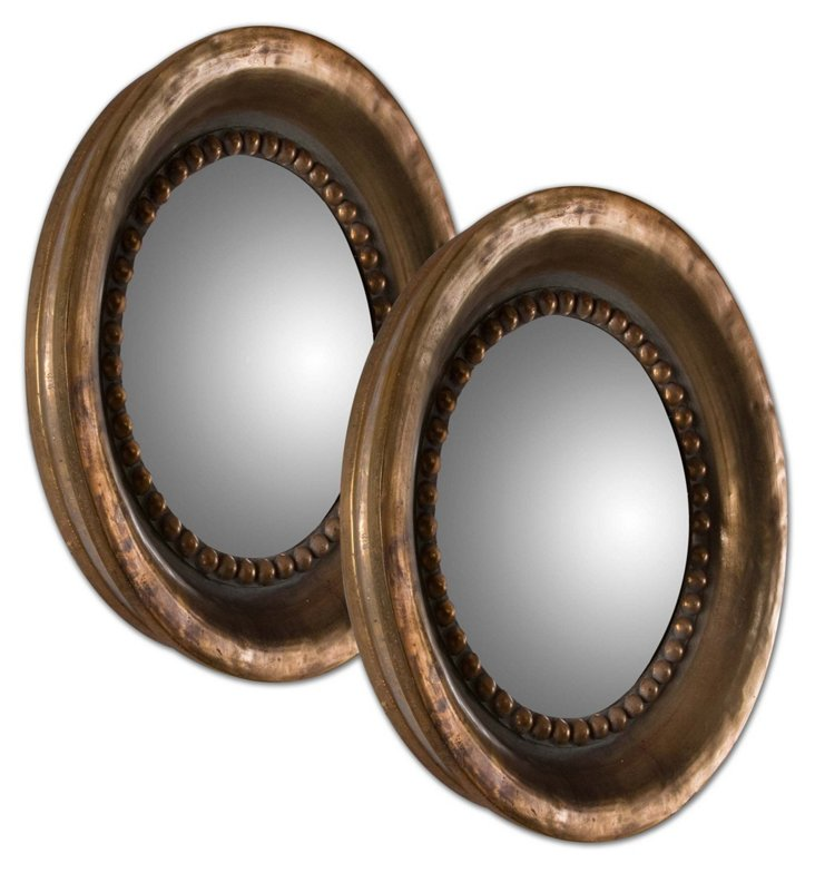 Vincent Accent Mirror Set, Copper