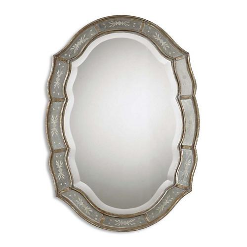 Serena Wall Mirror, Gold