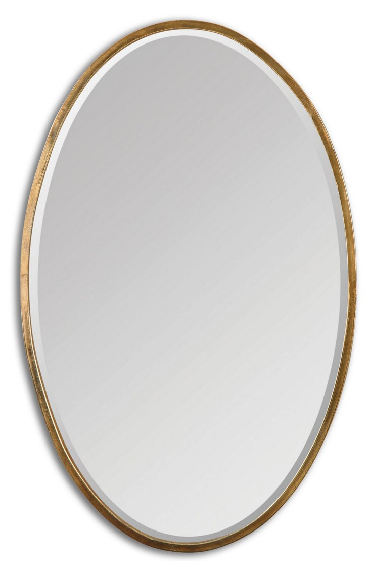 Lane Classic Oval Wall Mirror, Gold