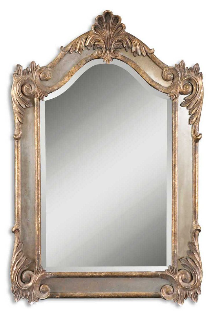 Evita Wall Mirror, Gold