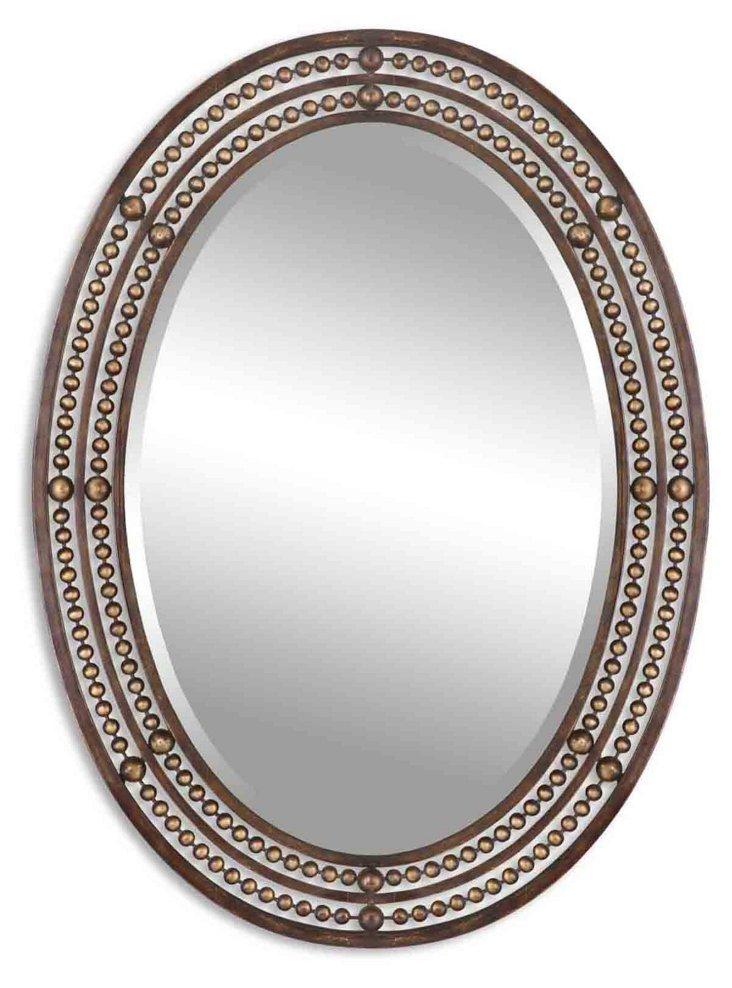 Thea Wall Mirror, Bronze