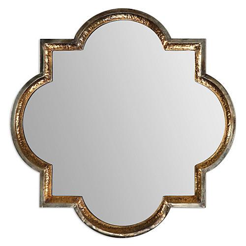 Quatrefoil Wall Mirror, Gold Leaf