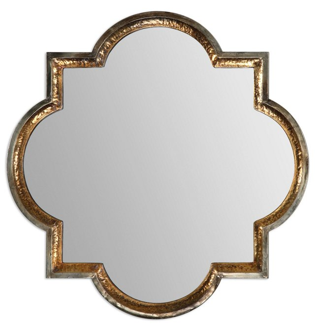 Holly Wall Mirror, Gold