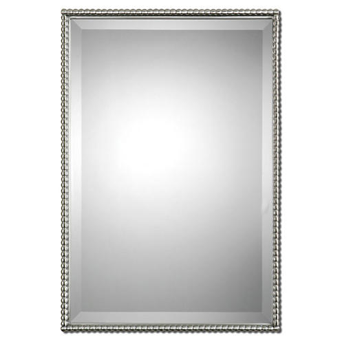 Cromwell Wall Mirror, Brushed Nickel