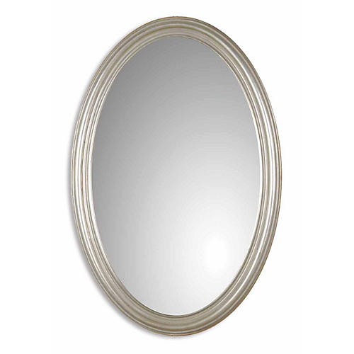 Austin Wall Mirror, Silver Leaf