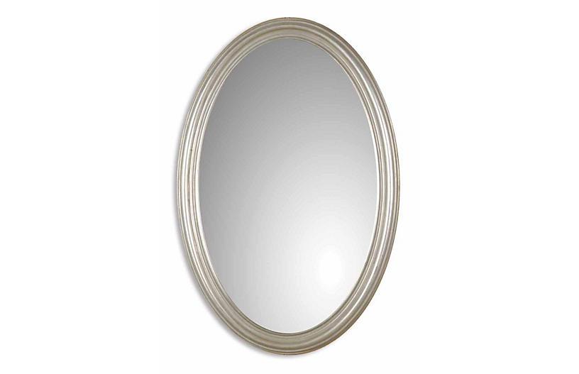 Austin Wall Mirror, Silver Leaf