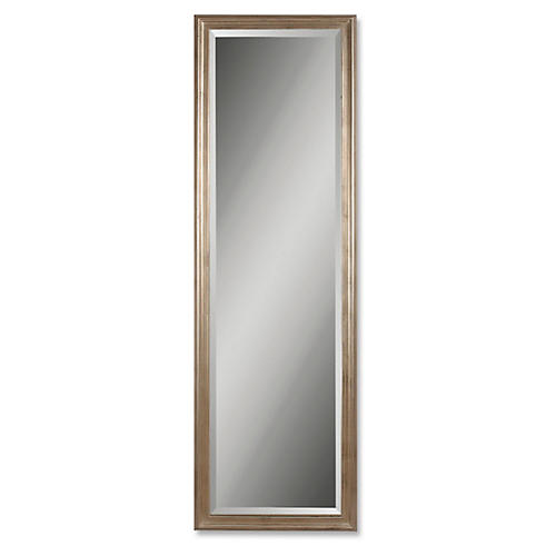 Peconic Floor Mirror, Silver