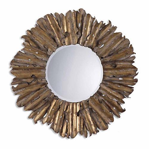 Hemani Wall Mirror, Light Gray