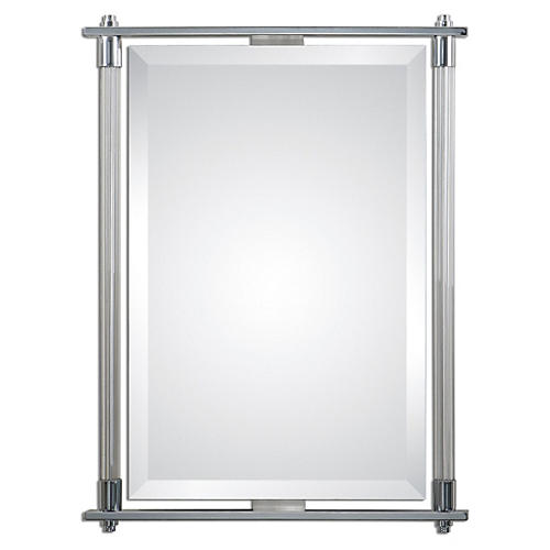 Adara Wall Mirror, Gray