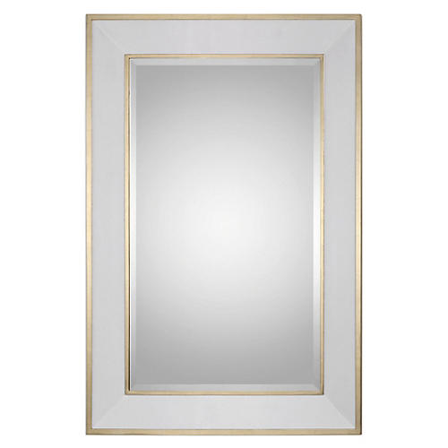Ottowa Floor Mirror, Gold Leaf