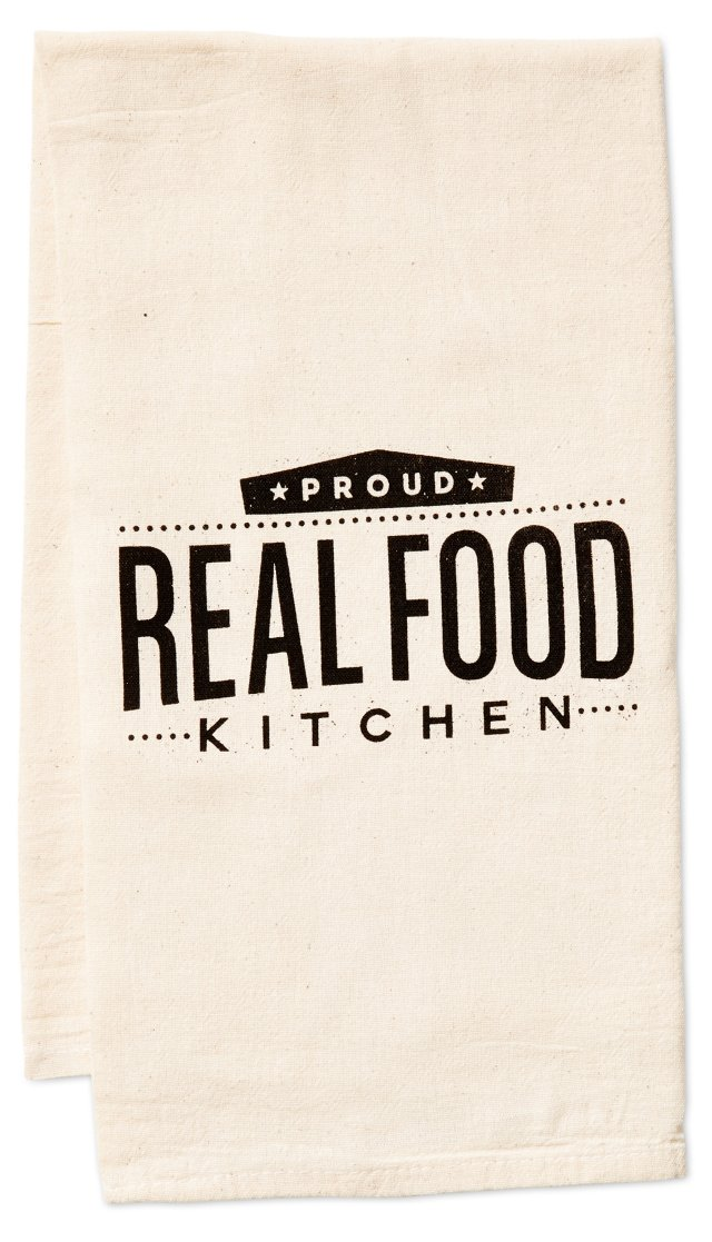 """""""Proud Real Food"""" Kitchen Towel"""