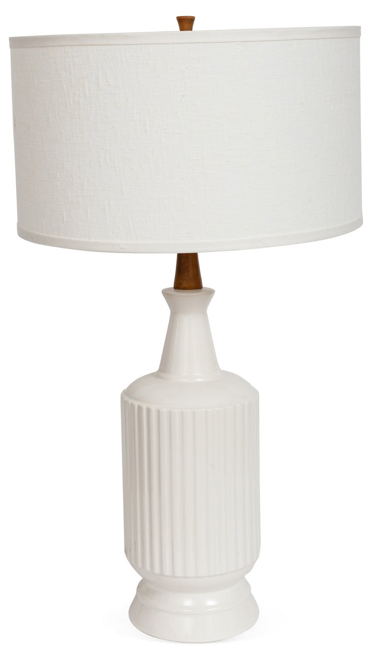 Midcentury White Lamp