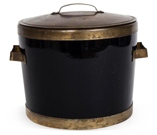 Black & Brass Ice Bucket