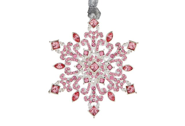 Crystal Navette Ornament, Pink