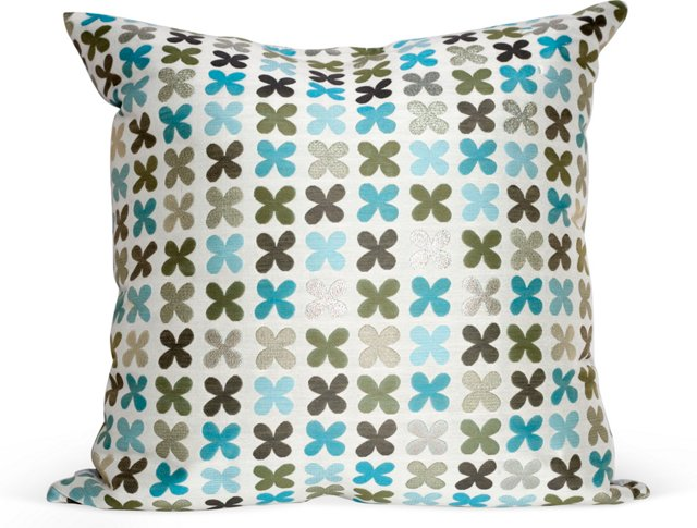 Skye Quatrefoil Throw Pillow
