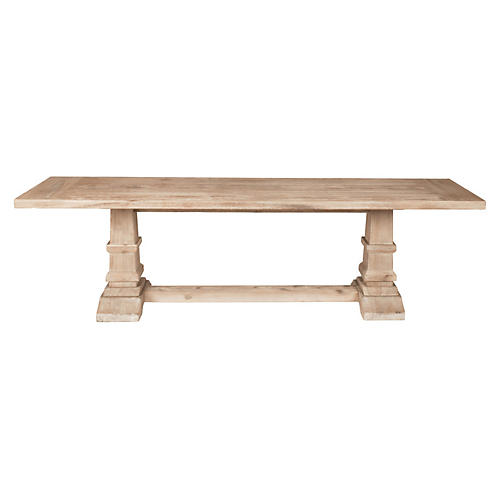 Hewitt Dining Bench, Stone Wash