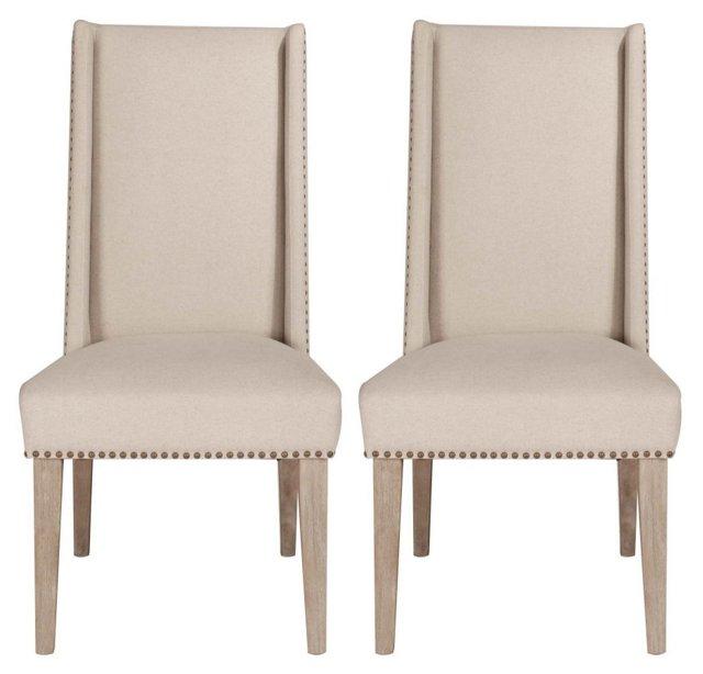 Stonewash Clementina Dining Chairs, Pair