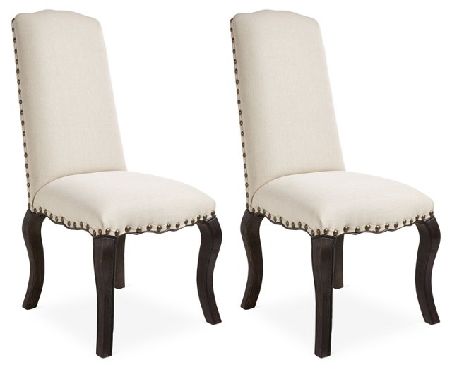 Dutch Brown Emily Dining Chairs, Pair