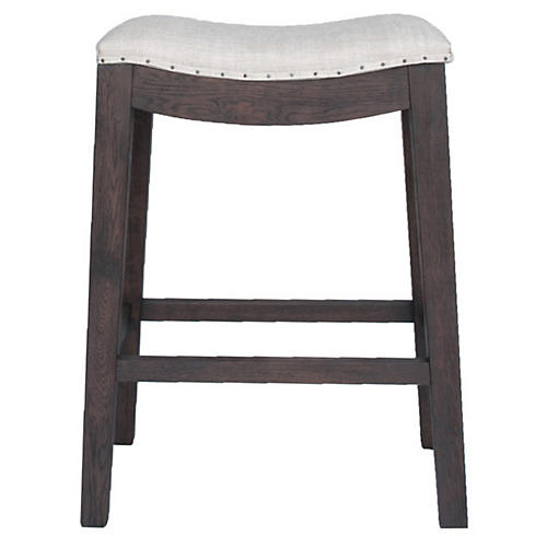 York Counter Stool, Java Linen