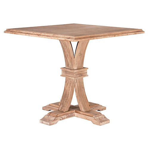 "Collins 40"" Square Dining Table, Natural"