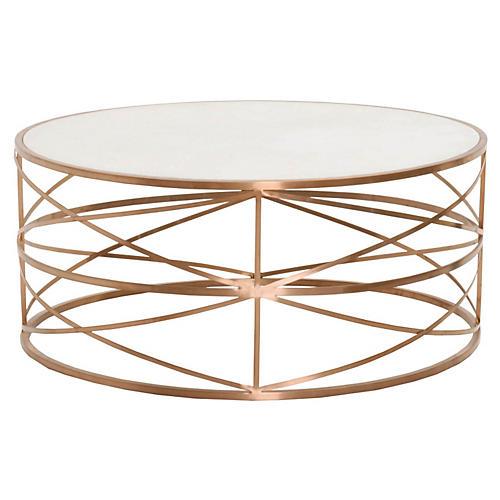 Hadlee Coffee Table, Rose Gold