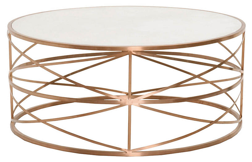 Hadlee Coffee Table - Rose Gold