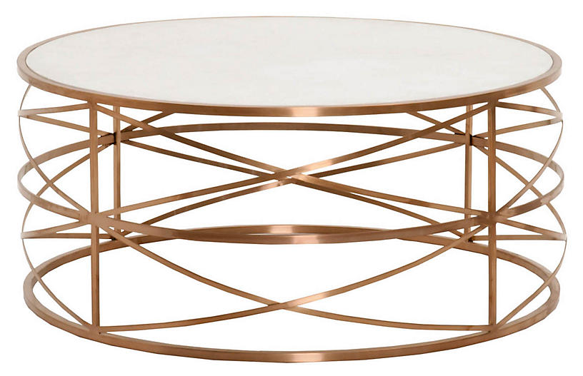 Hadlee Coffee Table Rose Gold Coffee Tables Living Room Furniture One Kings Lane