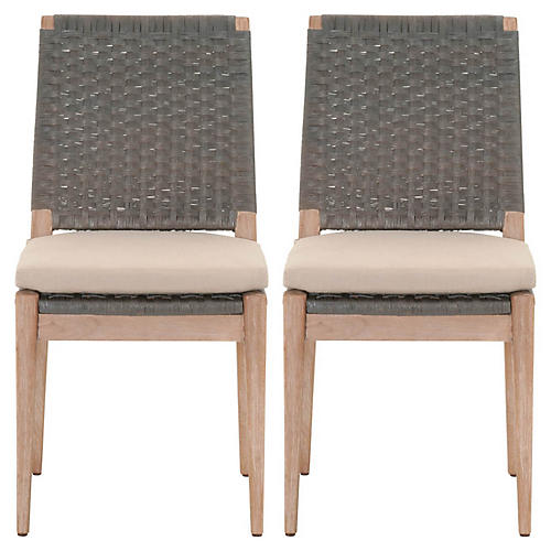 S/2 Marshall Side Chairs, Gray