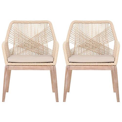 S/2 Loom Armchairs, Sand
