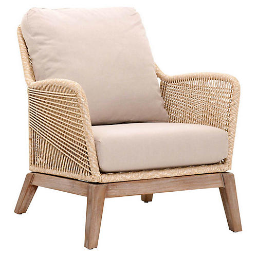Scout Club Chair, Sand/Platinum Linen