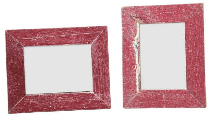 S/2 Corolla Frames, 2x3, Red