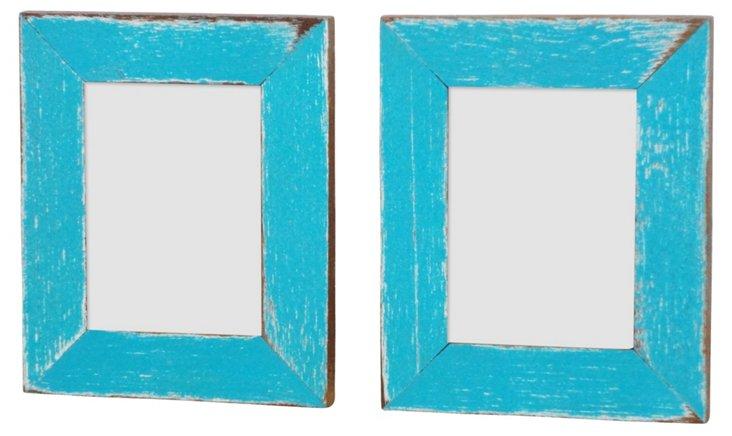 S/2 Corolla Frames, 2x3, Blue