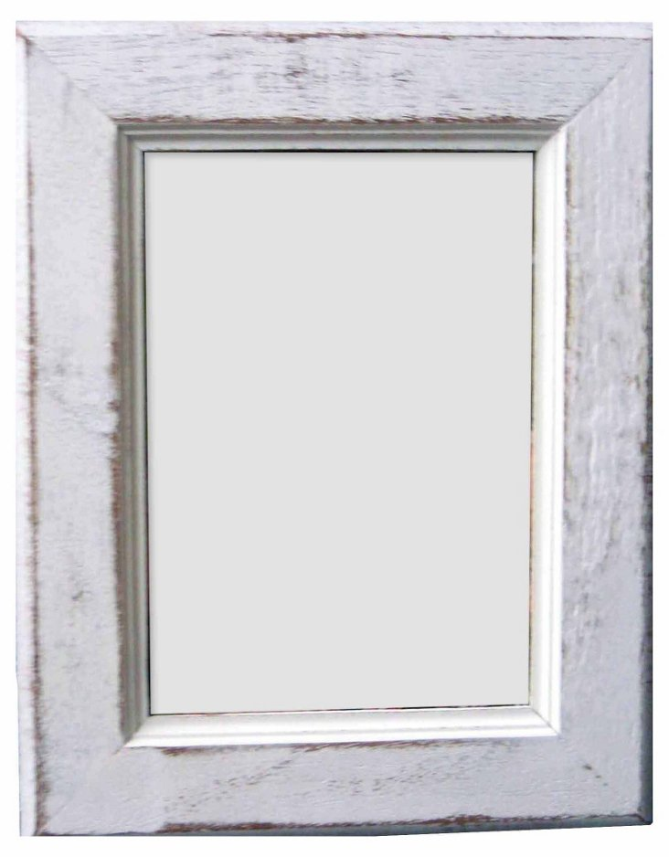 Watch Hill Frame, 4x6, White