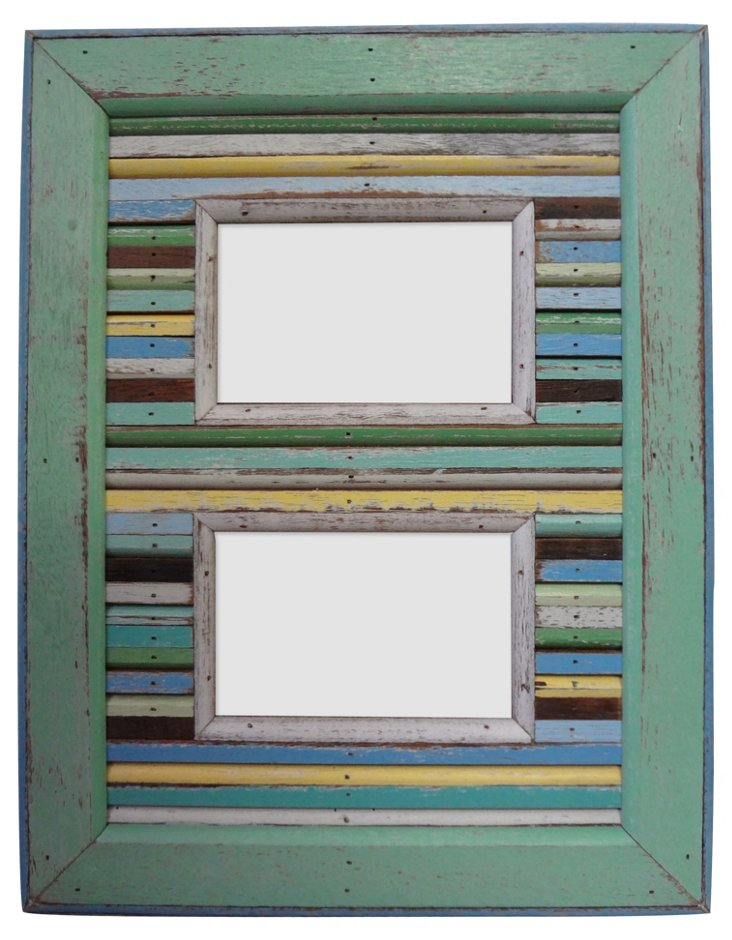 Striped Watch Hill Double Frame, 4x6