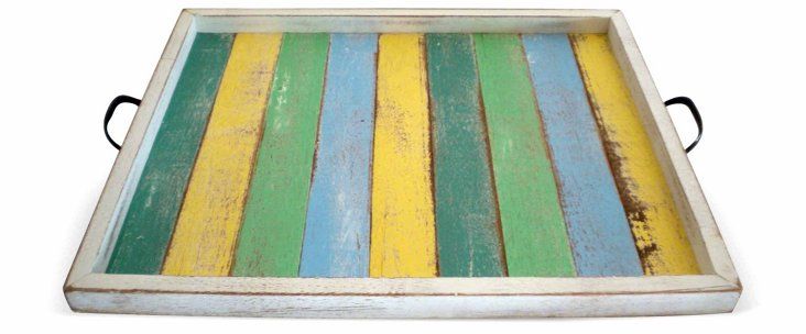 Watch Hill Tray, Yellow/Green