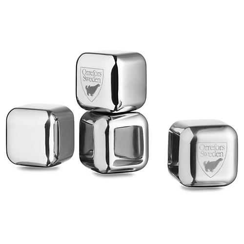 S/4 City Ice Cubes, Silver
