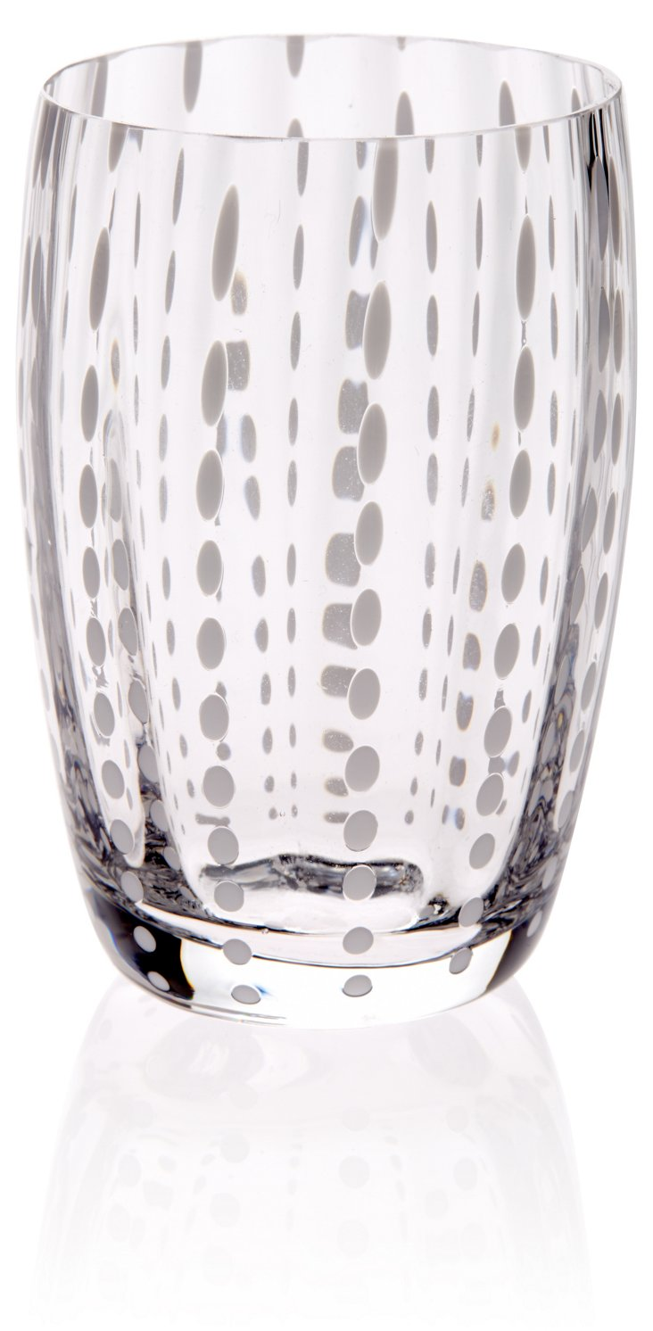 S/6 Small Perle Tumblers, Clear