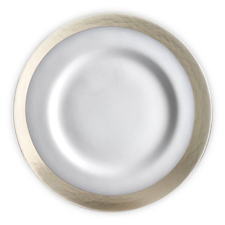 Handmade Plate w/ Border, Smoke