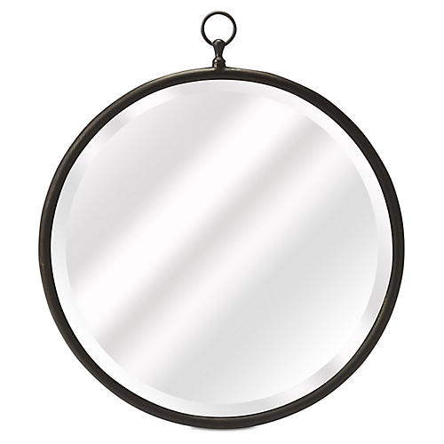 Fiona Beveled Wall Mirror, Bronze
