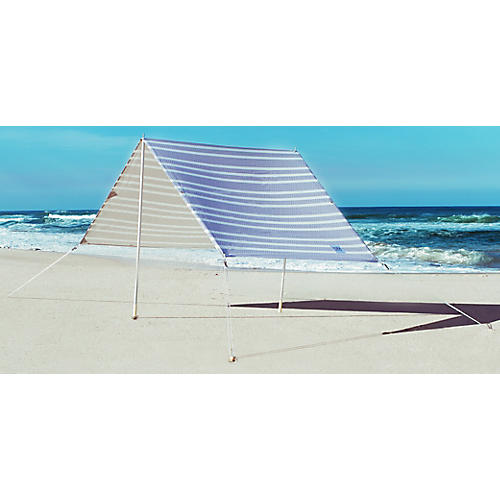Santorini Beach Tent, Blue/White
