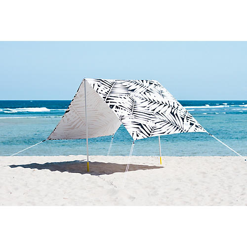 Palms Beach Tent, Black/White