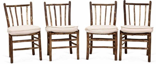 Antique Adirondack Chairs, Set of 4